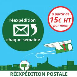 Réexpédition postale des courriers 1 fois par semaine (1 mois)