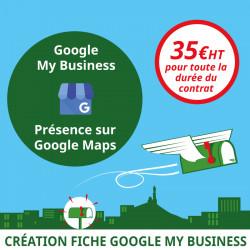 Fiche Google My Business avec présence sur Google Maps