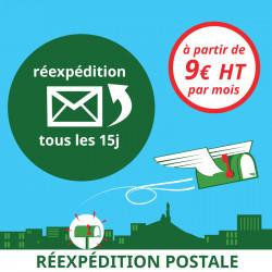Réexpédition postale des courriers tous les 15 jours (1 mois)