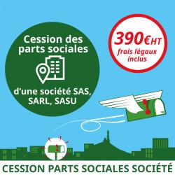 Cession des parts sociales d'une société (frais légaux inclus)