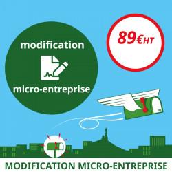 Modification de votre auto-entreprise (micro-entreprise)
