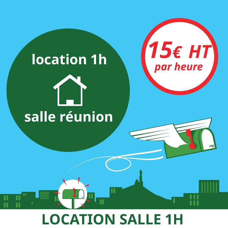 1 Heure de location de notre salle de réunion - Domiciliation Marseille 1er - Domiciliation d'entreprise