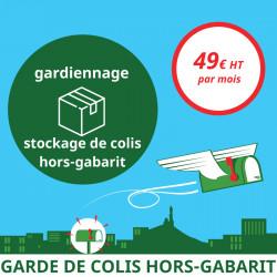 Services annexes à la domiciliation d'entreprise à Marseille 1er : Gardiennage et stockage de colis hors-gabarit.