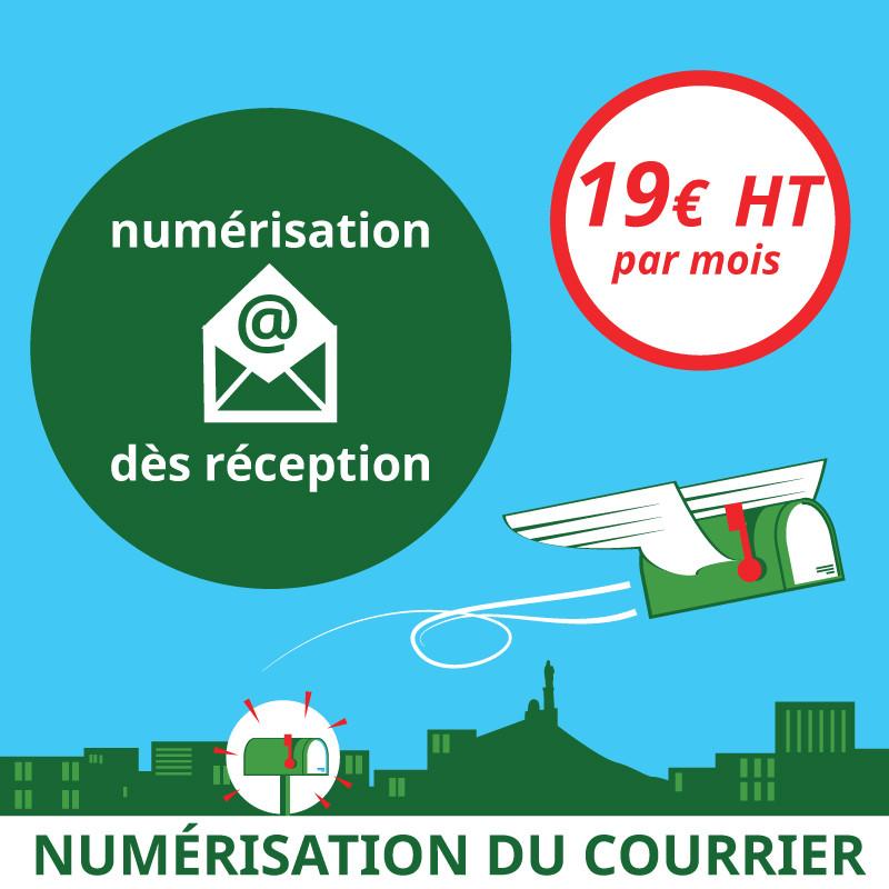 Numérisation du courrier dès réception - Domiciliation Marseille 1er - Domiciliation d'entreprise