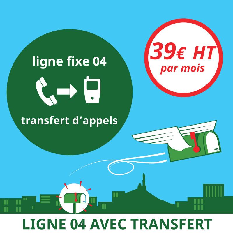 Attribution d'une ligne fixe en 04 avec transfert d'appels - Domiciliation Marseille 1er - Domiciliation d'entreprise