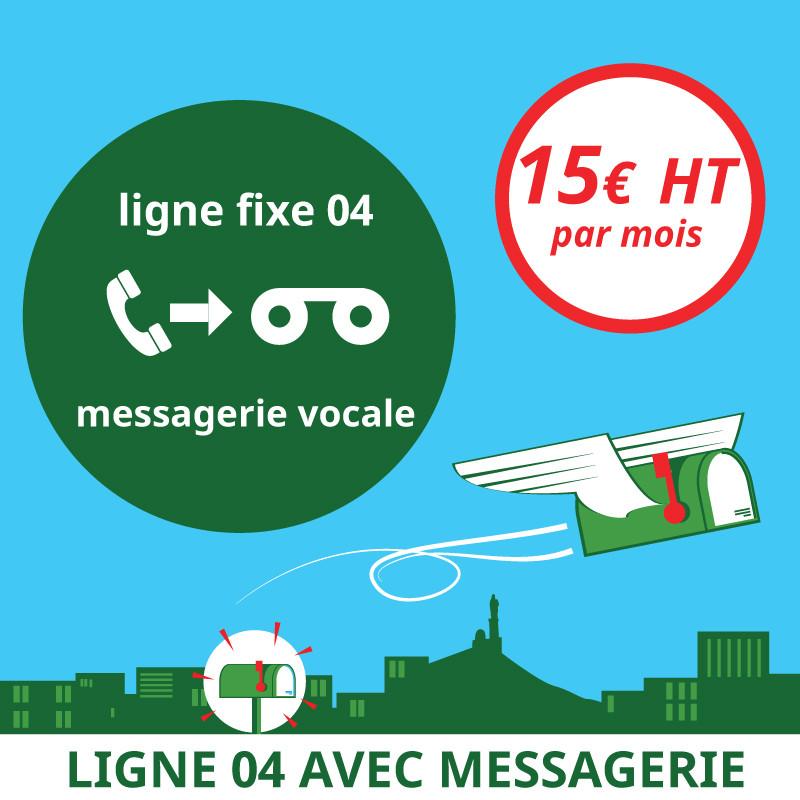 Attribution d'une ligne fixe en 04 avec messagerie vocale - Domiciliation Marseille 1er - Domiciliation d'entreprise