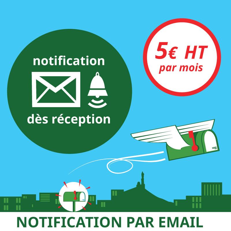 Notification dès réception d'un courrier - Domiciliation Marseille 1er - Domiciliation d'entreprise