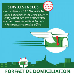 1 an de Domiciliation Marseille 1er - Domiciliation Marseille 1er - Domiciliation d'entreprise